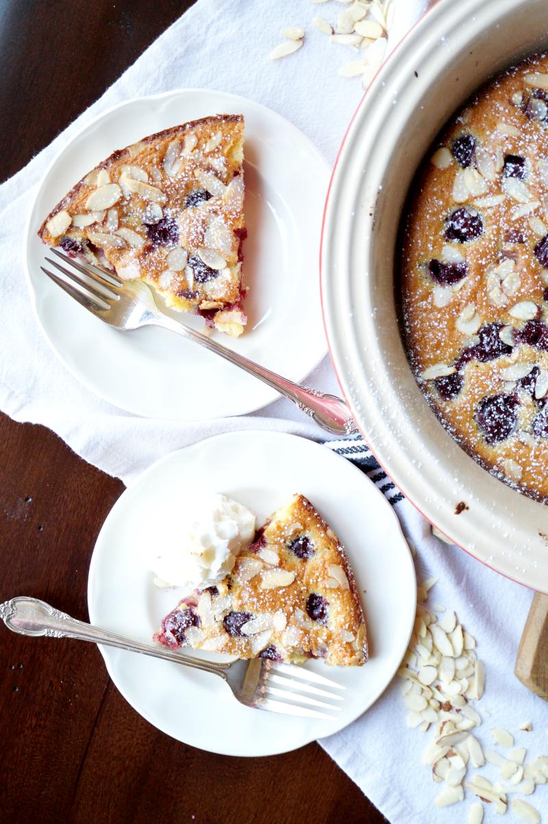 cherry almond clafoutis | The Baking Fairy