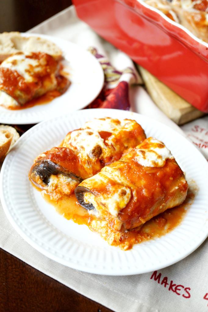cheesy eggplant rollatini