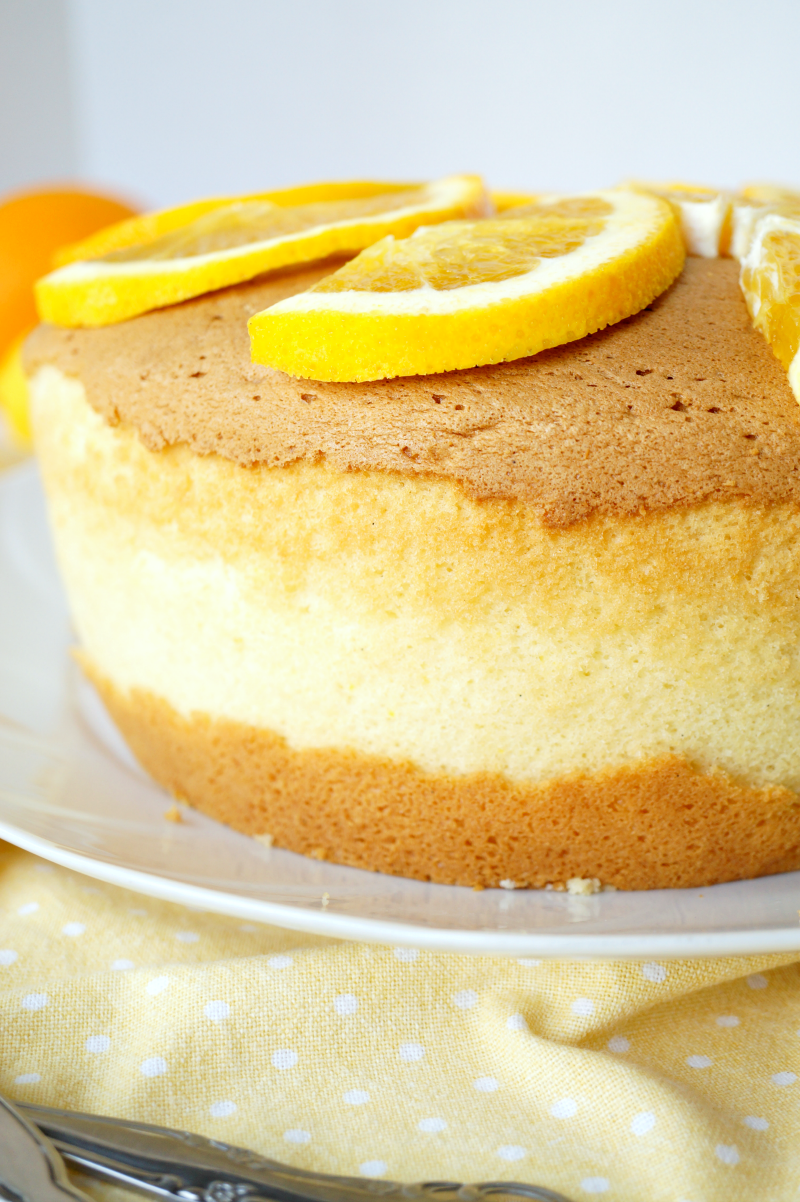 citrus chiffon cake | The Baking Fairy