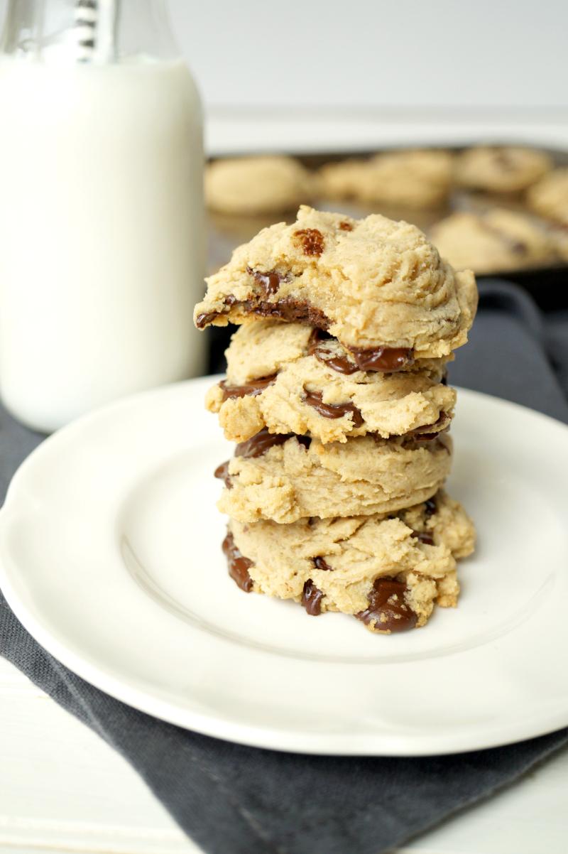 cream cheese chocolate chip cookies   The Baking Fairy