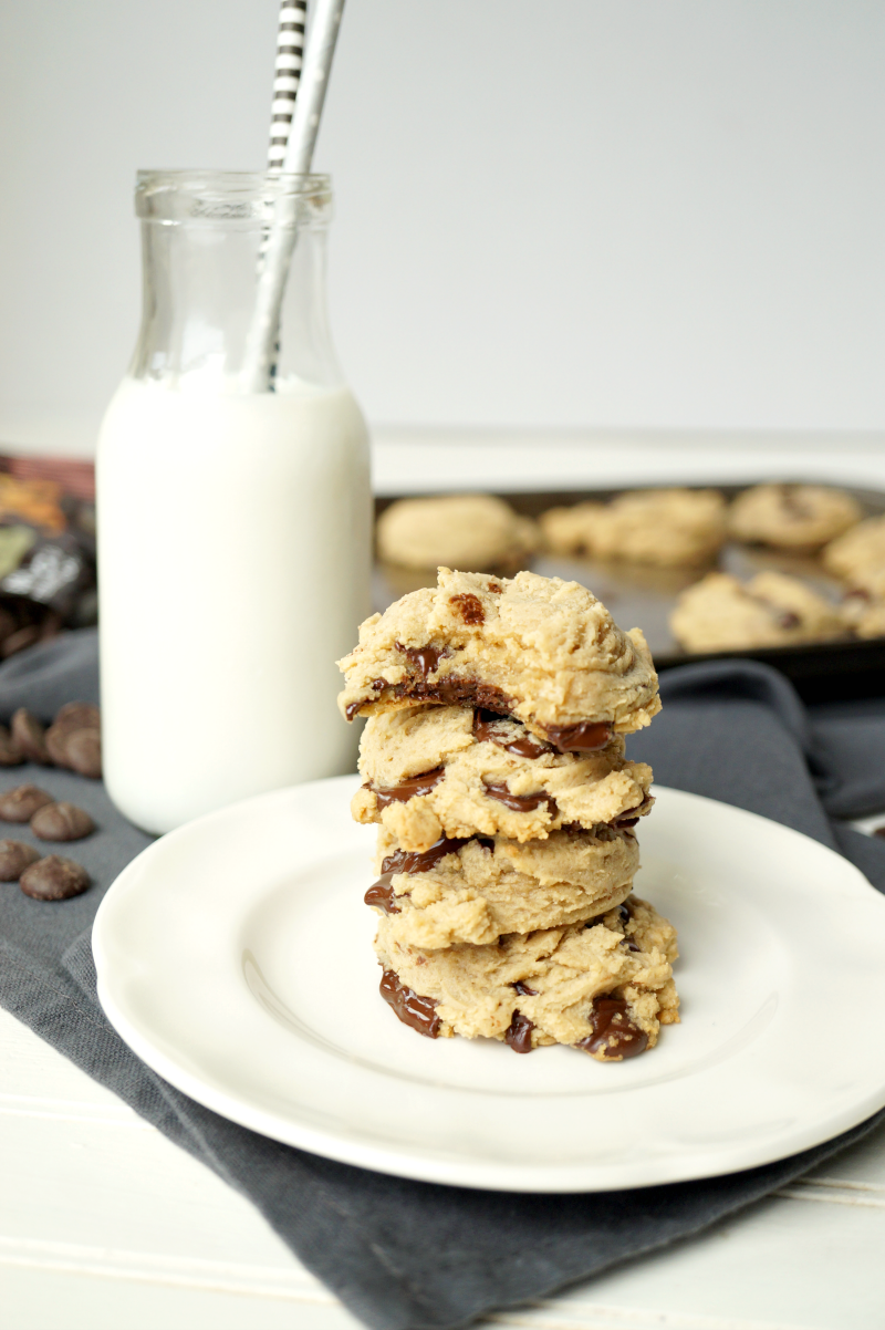 cream cheese chocolate chip cookies | The Baking Fairy