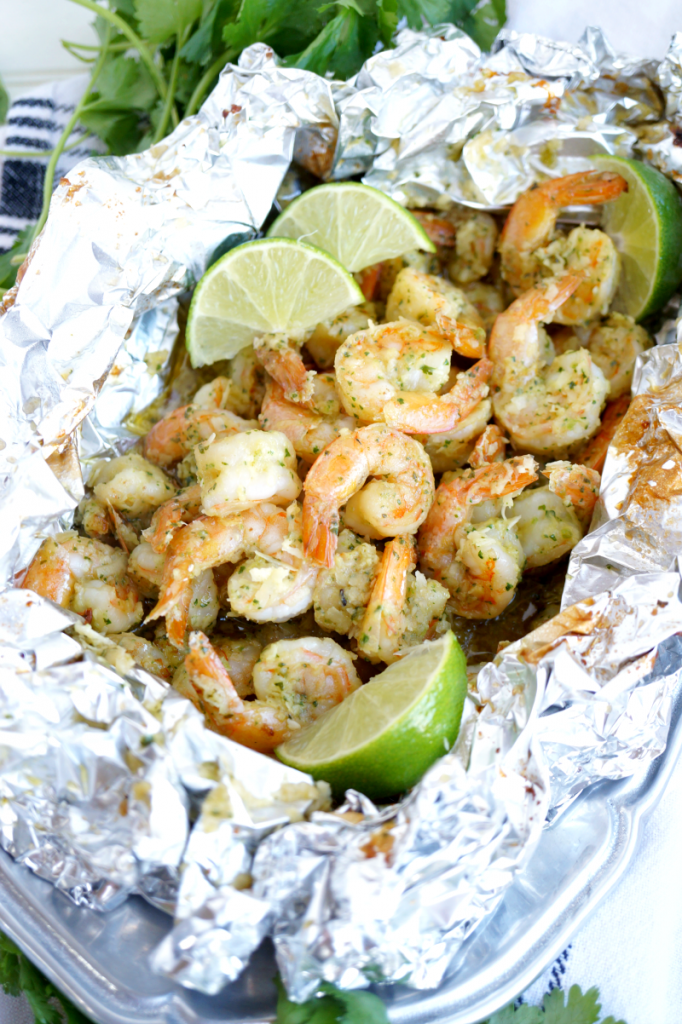 coconut lime shrimp packets