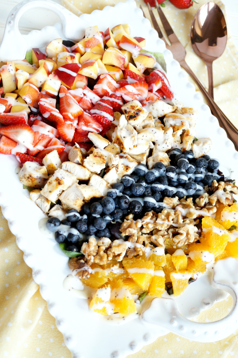 grilled chicken & fruit cobb salad   The Baking Fairy