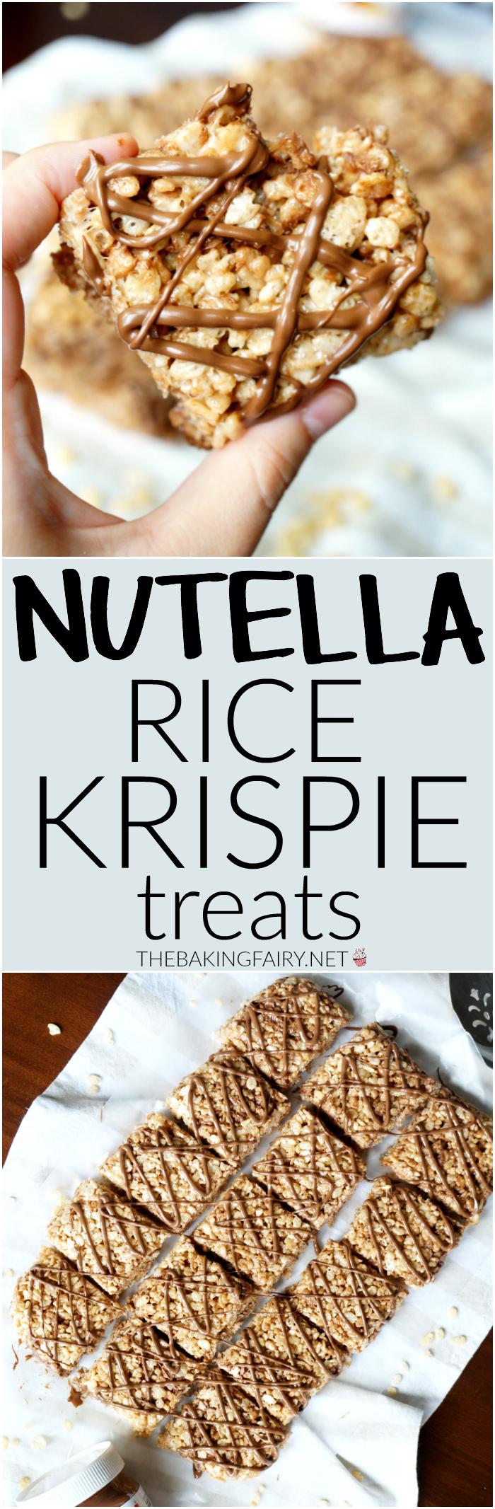 Nutella rice krispie treats   The Baking Fairy