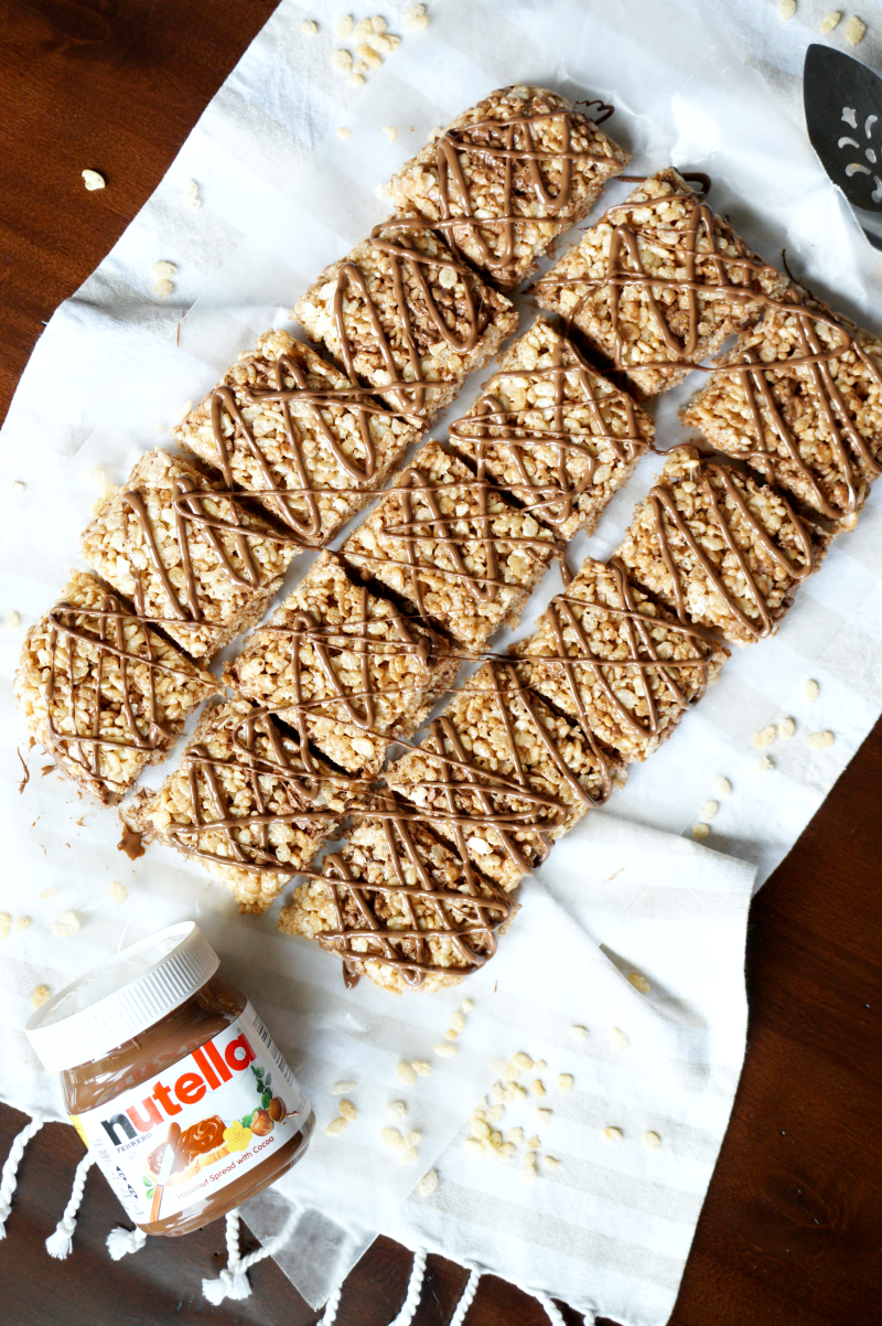 Nutella rice krispie treats | The Baking Fairy