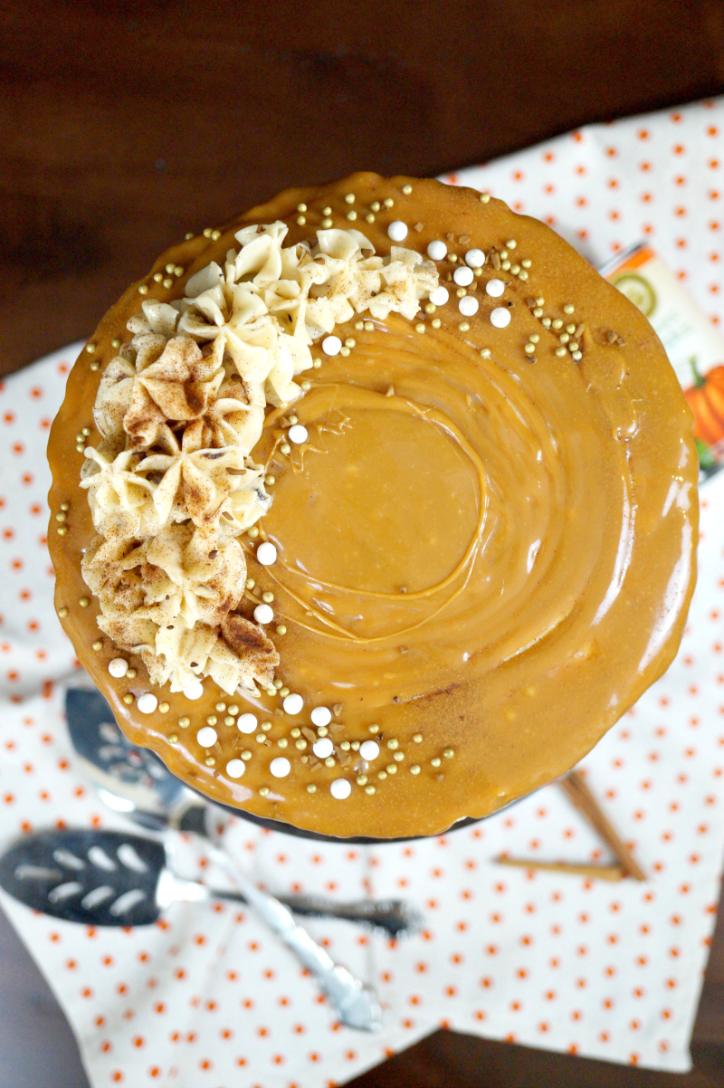 pumpkin spice latte layer cake | The Baking Fairy