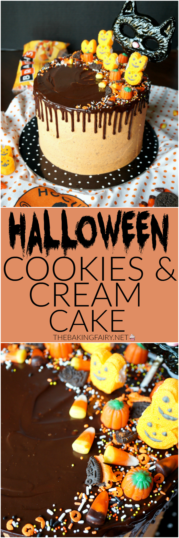 Halloween cookies & cream cake | The Baking Fairy