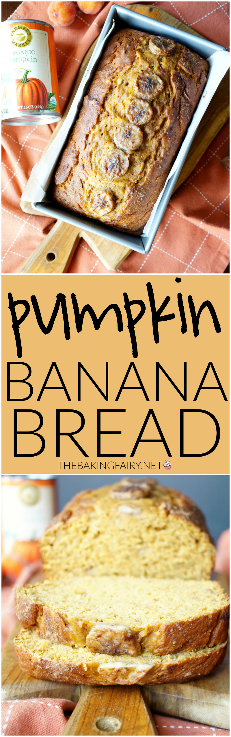 pumpkin banana bread | The Baking Fairy