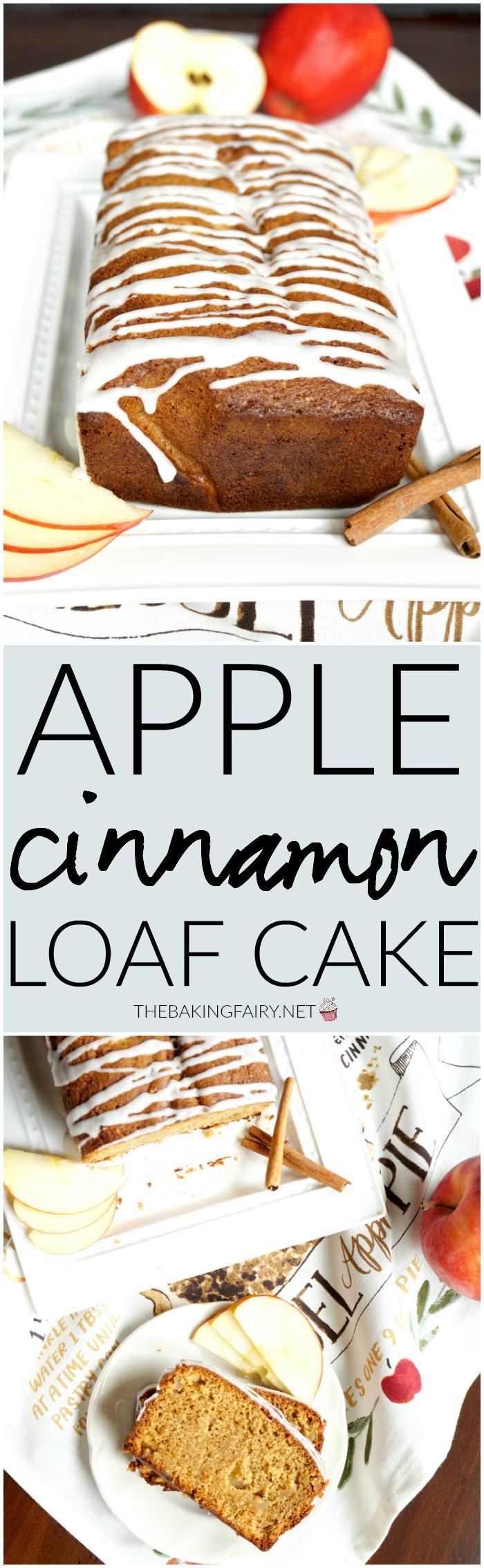 apple cinnamon loaf cake   The Baking Fairy