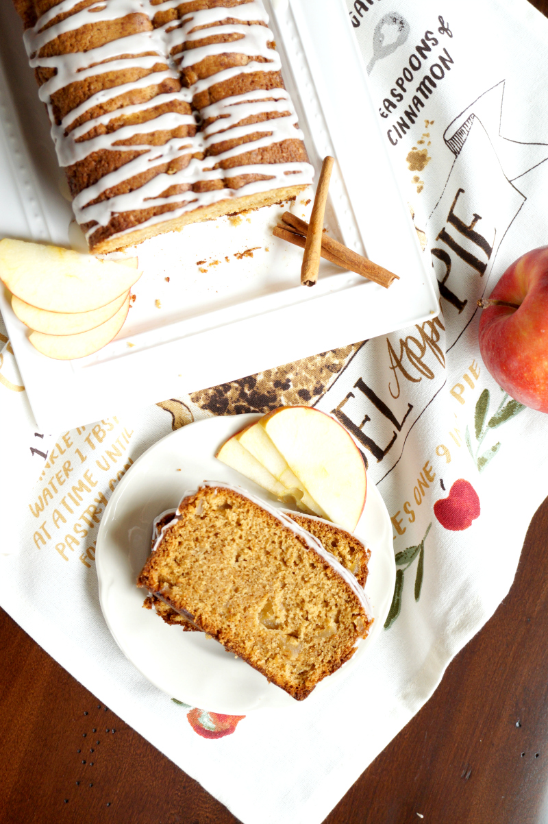 apple cinnamon loaf cake | The Baking Fairy