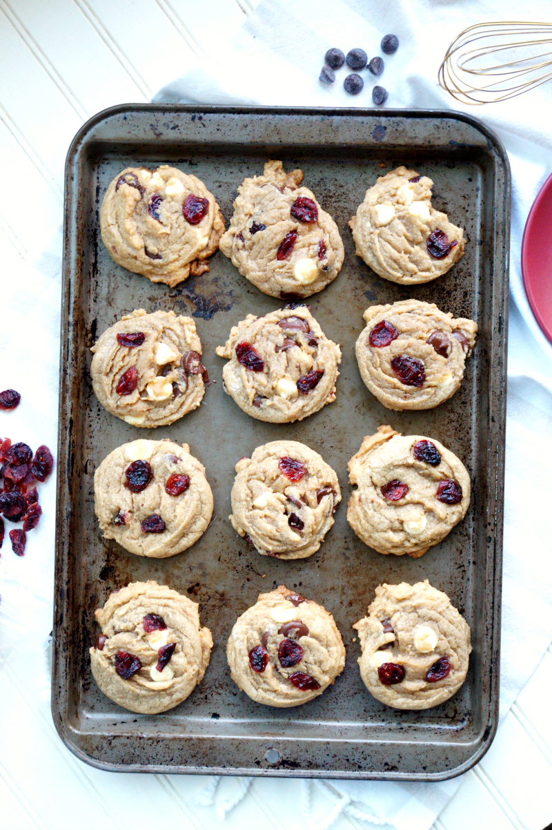 double chocolate chip cranberry cookies | The Baking Fairy