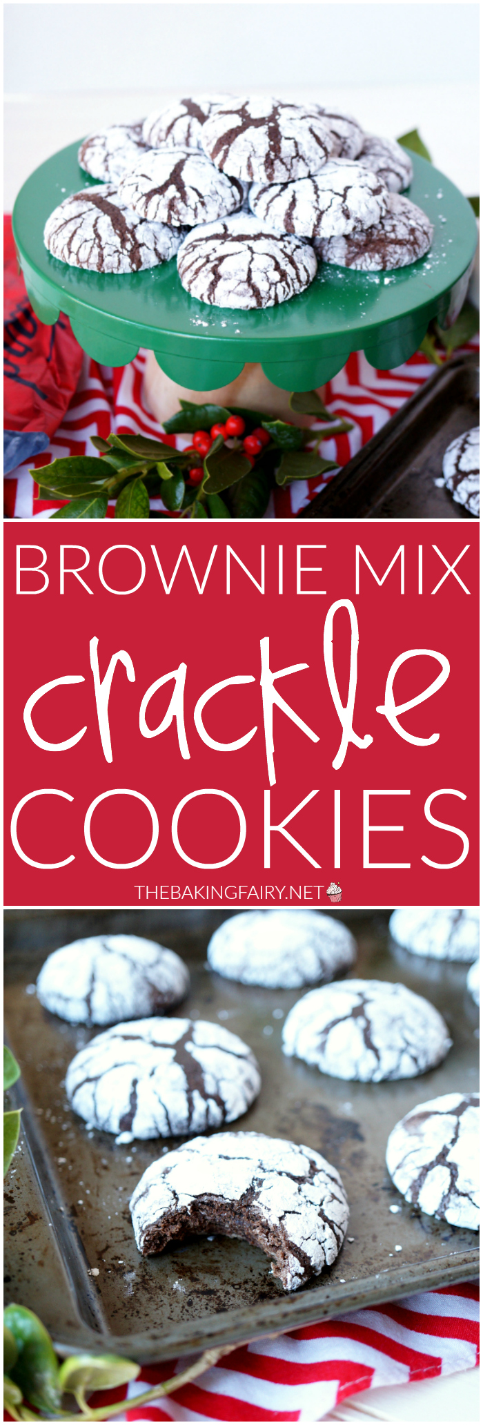 brownie mix crackle cookies   The Baking Fairy