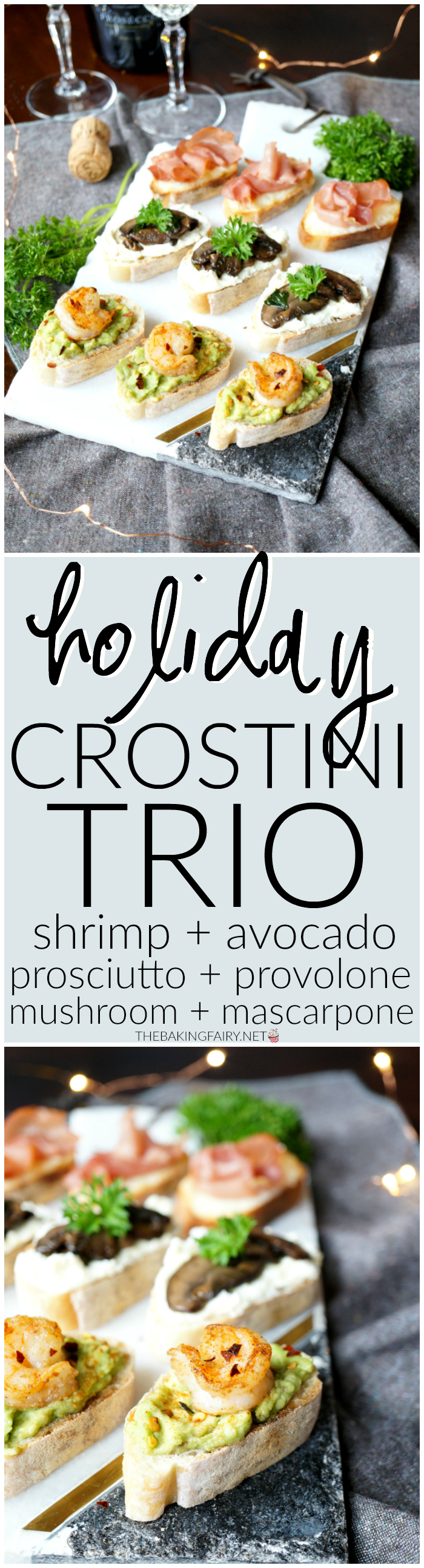 holiday crostini trio | The Baking Fairy
