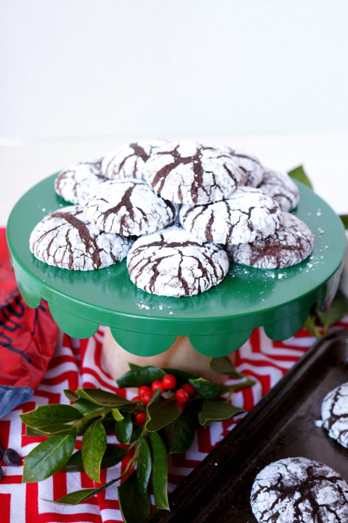 brownie mix crackle cookies