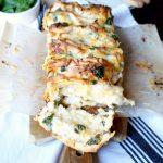 chicken spinach artichoke pull-apart bread | The Baking Fairy