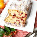 cranberry orange mascarpone loaf cake | The Baking Fairy