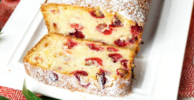 cranberry orange mascarpone loaf cake