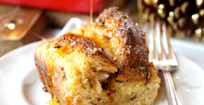 panettone french toast casserole