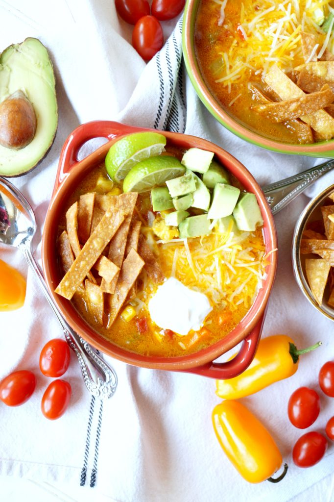 crispy chicken tortilla soup | The Baking Fairy