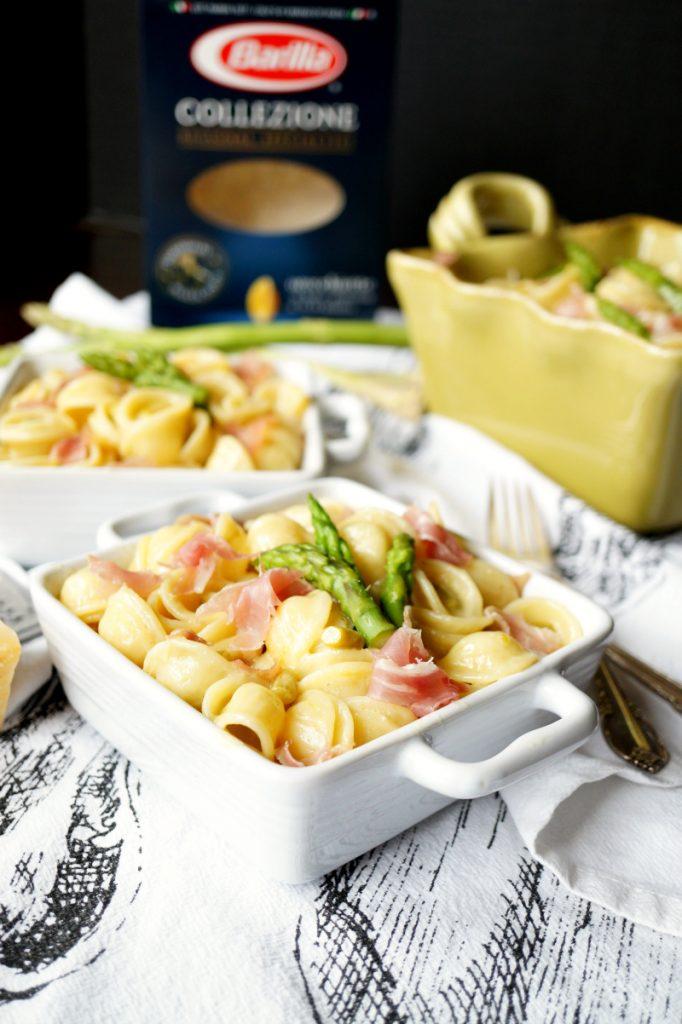 prosciutto & asparagus orecchiette