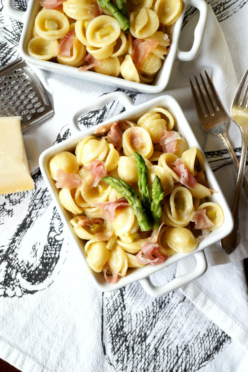 prosciutto & asparagus orecchiette   The Baking Fairy