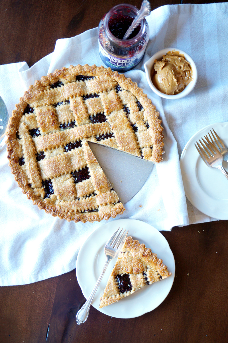 peanut butter & jelly crostata | The Baking Fairy