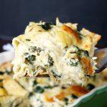 spinach artichoke lasagna   The Baking Fairy