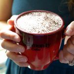 almond milk mocha with Community Coffee | The Baking Fairy