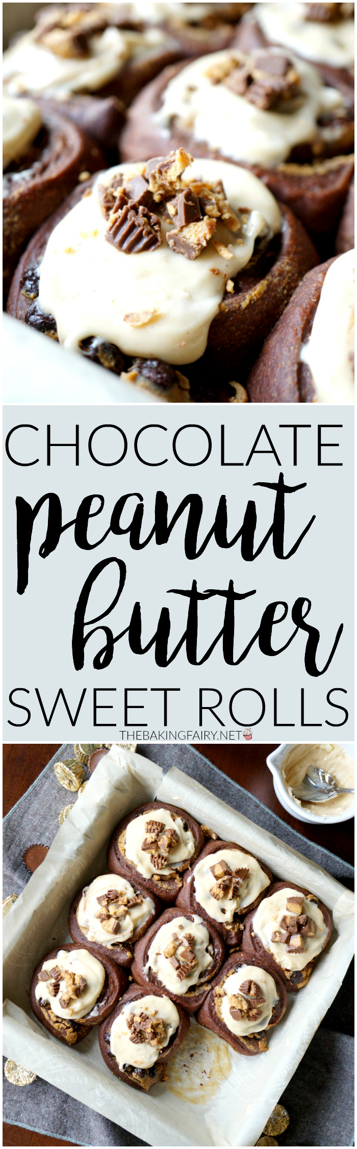 chocolate peanut butter sweet rolls | The Baking Fairy