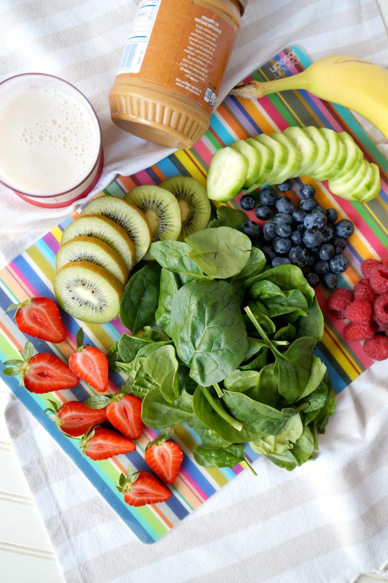 rainbow green smoothie bowl   The Baking Fairy