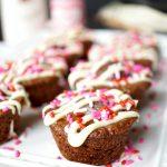 dark chocolate truffle brownie bites | The Baking Fairy