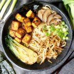 vegan crispy tofu ramen | The Baking Fairy