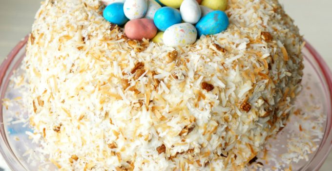 easter nest italian cream cake