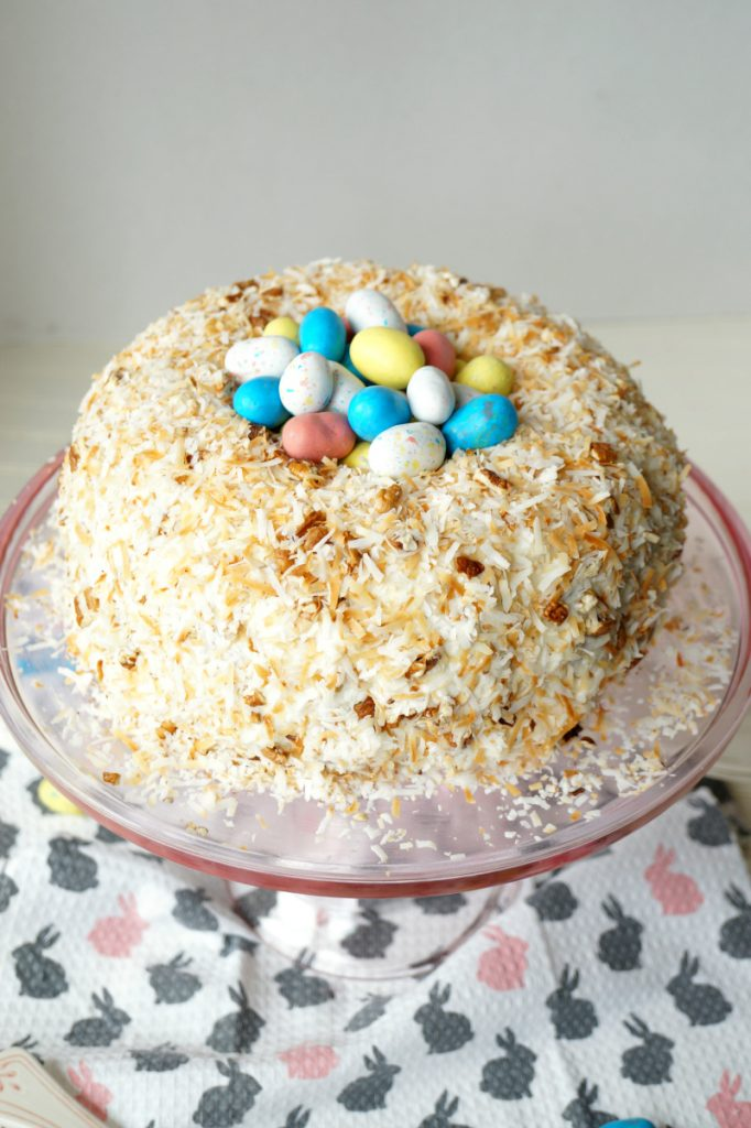 easter nest italian cream cake | The Baking Fairy