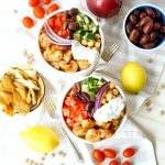 Greek grilled shrimp quinoa bowls | The Baking Fairy