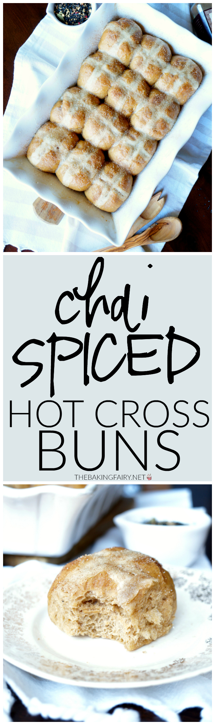 chai spiced hot cross buns | The Baking Fairy