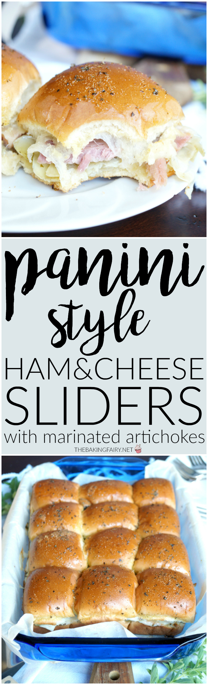 panini-style ham and cheese sliders | The Baking Fairy