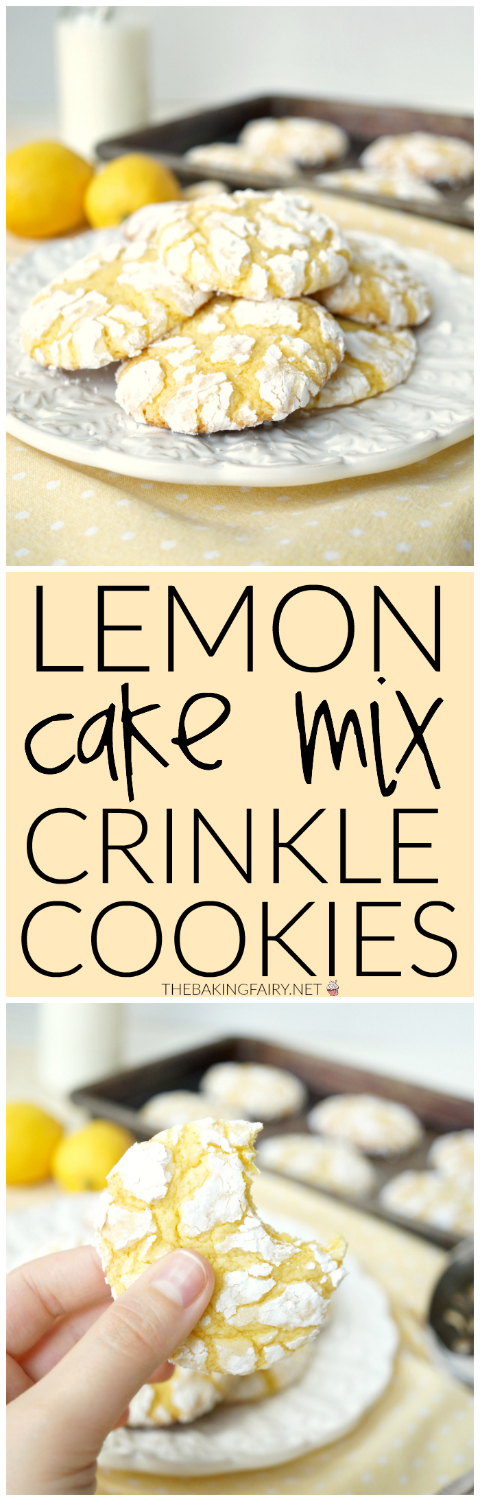 Lemon Cake Mix Cookies With Lemon Extract