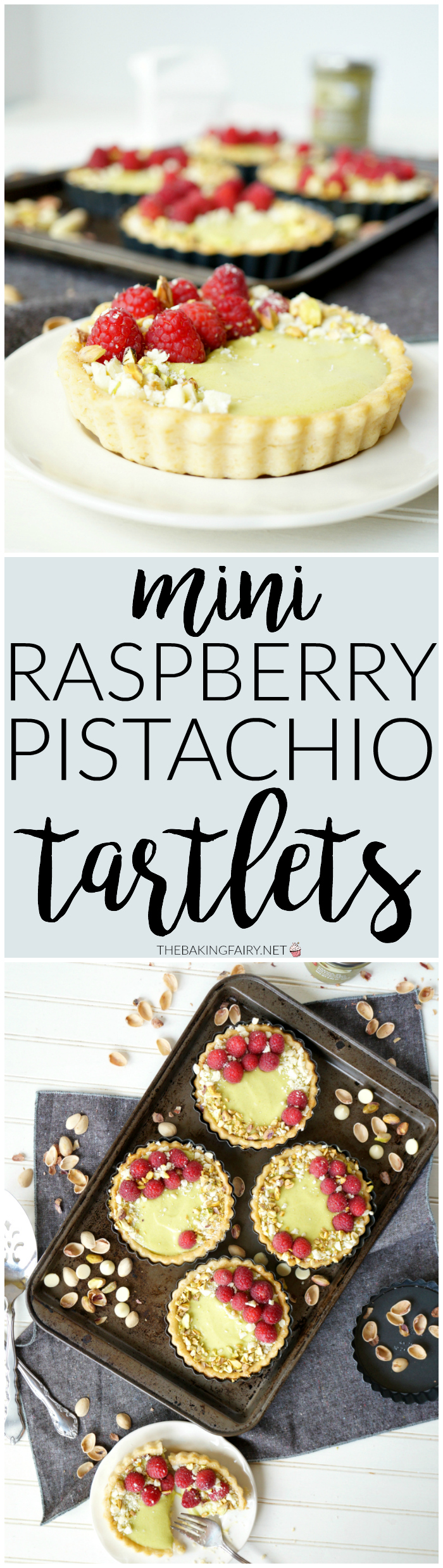 mini raspberry pistachio tartlets | The Baking Fairy