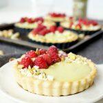 mini raspberry pistachio tartlets | The Baking Fairy