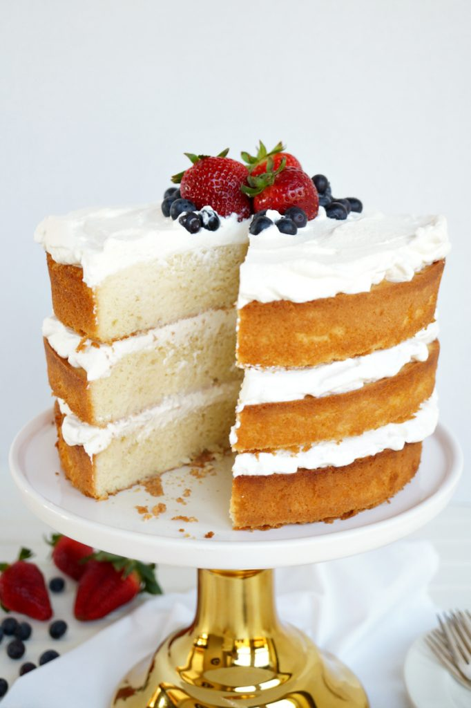 layered tres leches cake