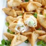 vegan crab cream cheese wontons | The Baking Fairy