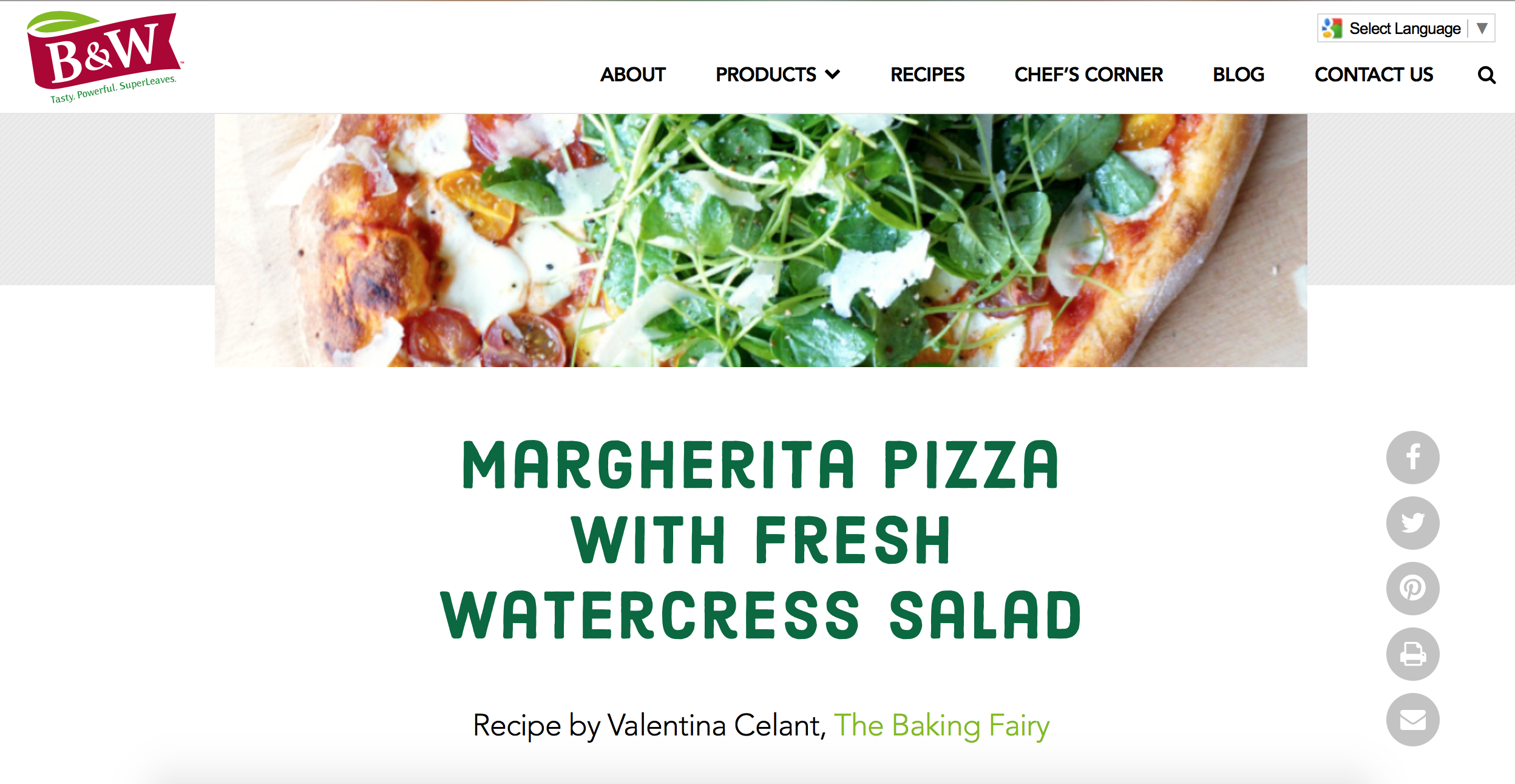 margherita pizza with fresh watercress salad | The Baking Fairy