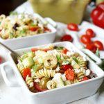 simple Greek pasta salad | The Baking Fairy
