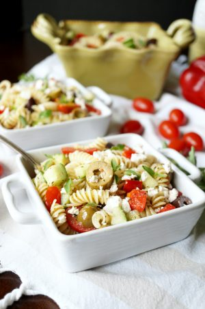 simple Greek pasta salad | The Baking Fairy