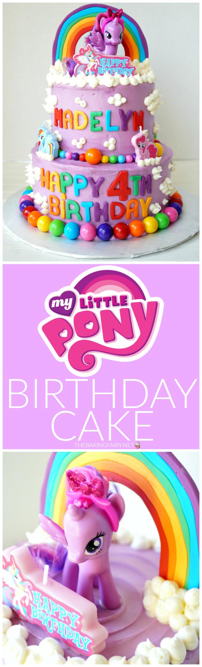 Fine My Little Pony Tiered Birthday Cake The Baking Fairy Funny Birthday Cards Online Sheoxdamsfinfo