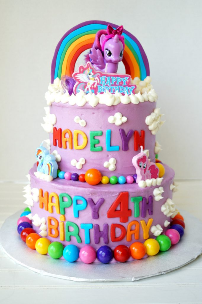 My Little Pony tiered birthday cake