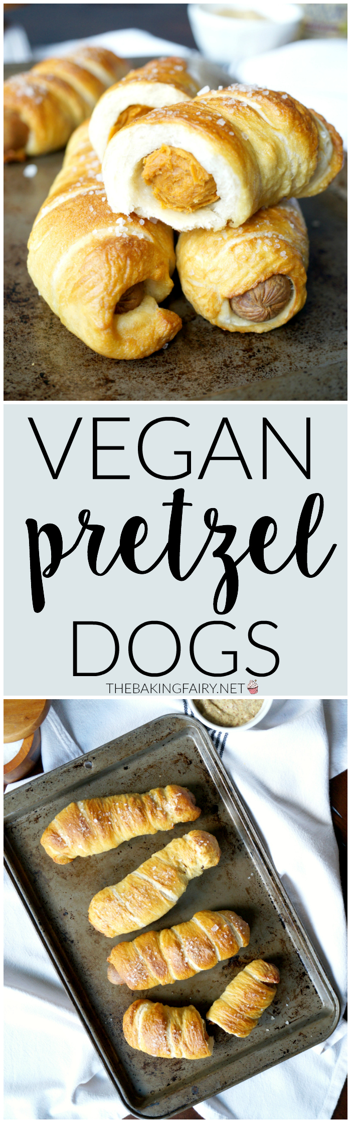 vegan pretzel dogs | The Baking Fairy