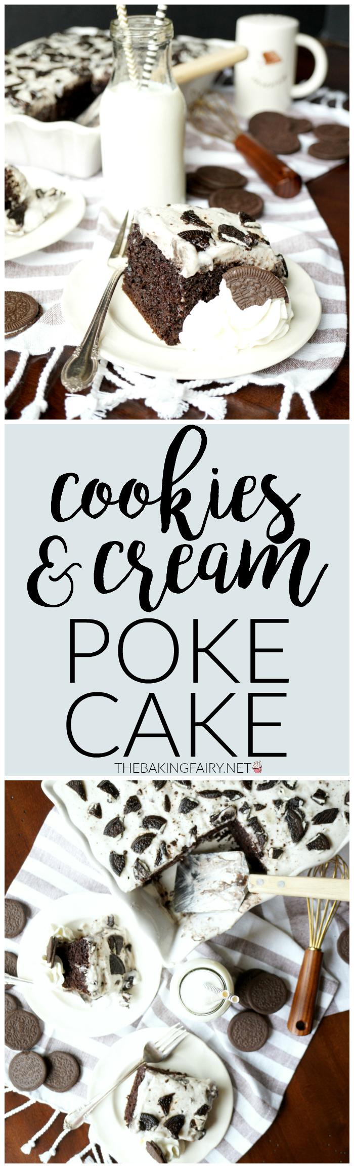 cookies and cream Oreo poke cake   The Baking Fairy