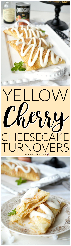 yellow cherry cheesecake turnovers | The Baking Fairy